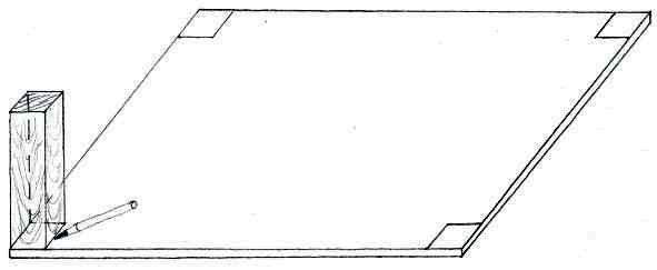 Boden des Räucherschrank anzeichnen
