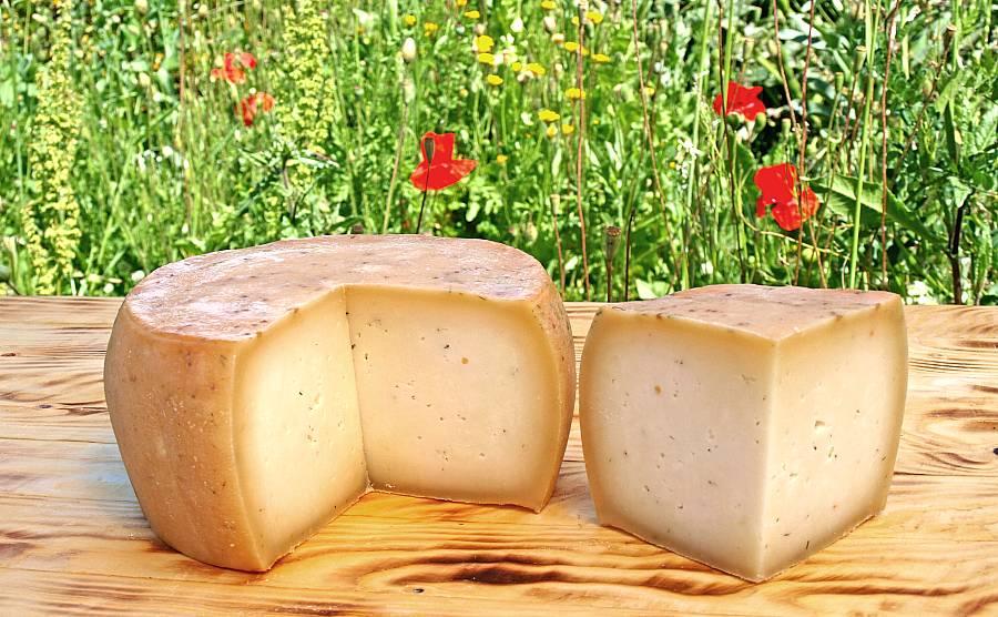 Gereiften und angeschnittenen Käse räuchern funktioniert sehr gut.
