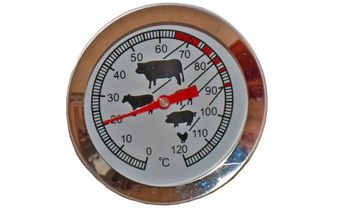 Ein Thermometer zur Überwachung der Temperatur.